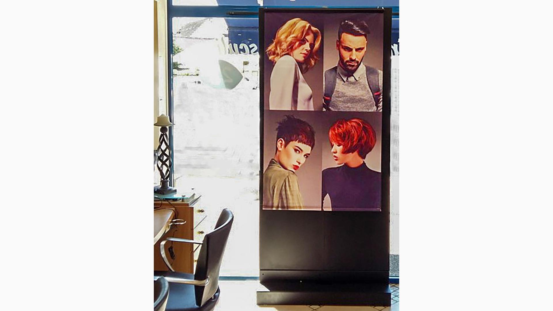 screenfit media produit indoor classico coiffeur