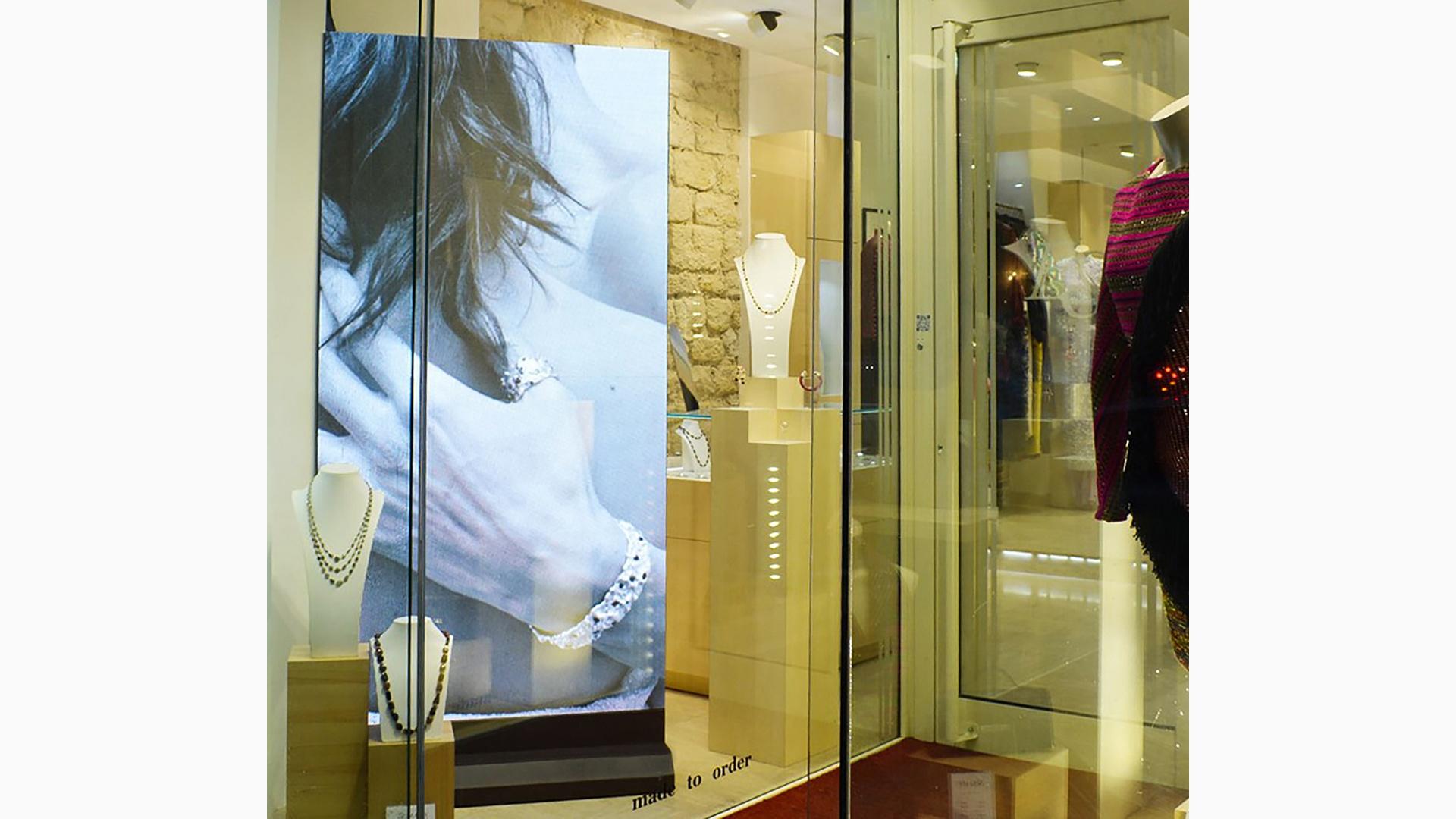 screenfit media produit indoor classico joaillier vitrine