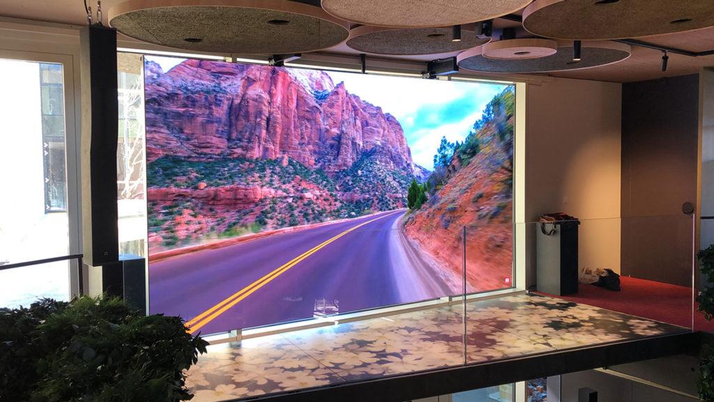 screenfit media produits indoor categorie mural sur mesure